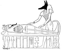 ancient egypt coloring pages anubis mummy egyptian