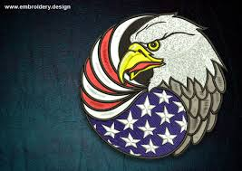 Bald Eagle And American Flag Biker Patch Eagle With Usa Flag
