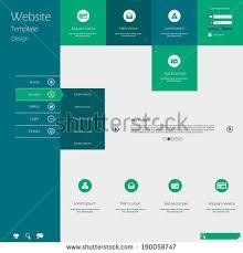 website menu design flat design menu website creative web stock vector 190058747