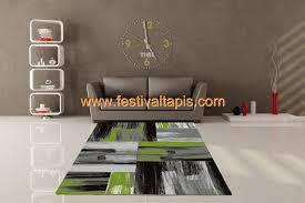 tapis cuisine pas cher tapis vintage vert pour salon
