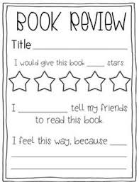 Book Review Template Elementary