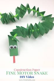 construction paper fine motor snakes video construction paper