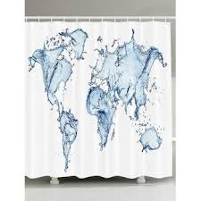 Shower Curtain Map Shower Curtain World Cheap Casual Style Online Free Shipping At