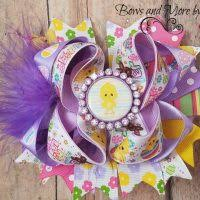 easter hair bows purple easter hair bow for the auction