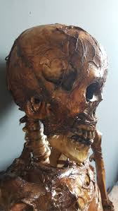life size rotting skeleton corpse artist made mad about horror