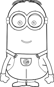 minions kevin perfect coloring page wecoloringpage