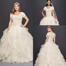 sle wedding dresses oleg cassini modest ruffle country lace wedding dresses plus size