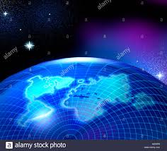 Planet Map Illustrations Virtual Image Rendered Planet Continents Meridians