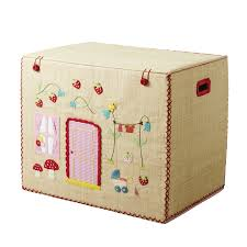 rice dk foldable house theme raffia toy basket vibrant home