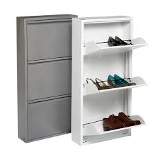 bissa shoe cabinet with 3 compartments shoe cabinet 3 drawer shoe cabinet the container store