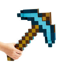 diamond minecraft amazon com minecraft transforming sword u0026 pickaxe action figure
