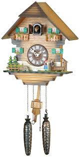 clocks brown cuckoo clocks with bird and leaves for wall clocks ideas