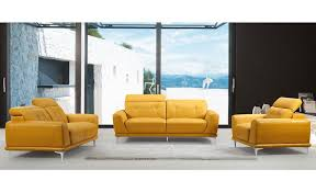 Modern Yellow Sofa Rialto Modern Yellow Leather Sofa