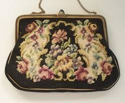vintage needlepoint purse made in austria from antiquecharm on