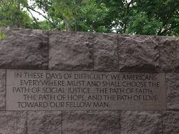 Quote at FDR Memorial Picture of Franklin Delano Roosevelt