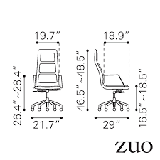 zuomod luminary zuomod luminary high back office chair