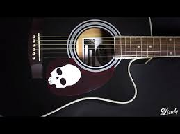 lindo guitars skull acoustic guitar demonstration