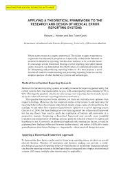 theoretical framework research paper applying a theoretical framework to the research and design of