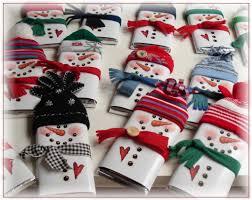 Christmas Candy Craft - chocolates disfrazados de muñecos de nieve navidad pinterest