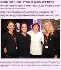 que veut dire reserver en cuisine 19 03 2012 nicolas rieffel lance la veste de cuisine pour femme