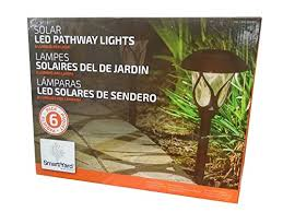 alpan solar lights 18 pack smart yard led pathway solar lights pack of 6 amazon com