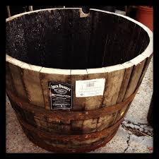 prepare half whiskey wine barrel planter best whiskey barrel