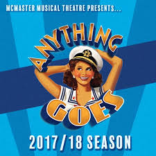 Sho Ayting about the show anything goes mcmaster musical theatre