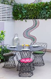 Wire Patio Chairs Outdoor Mosaic Ideas Patio Contemporary With Colourful Patio Patio