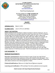 Sample Camp Counselor Resume by Camp Counselor Resume Summer Camp Counselor Resume Examples Camp