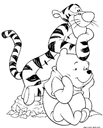 winnie pooh coloring pages free tiger