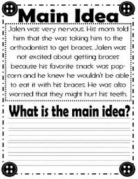 main idea worksheets for 1st grade free worksheets library