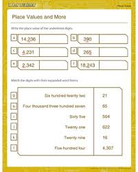 place values and more u2013 free printable worksheet on place value