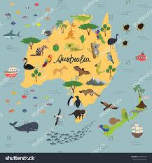 New Zealand Map Map Animal Kingdom Australia New Zealand Stock Vektorgrafik