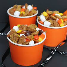 Kraft Halloween Appetizers Fall Snack Mix Chex Reese U0027s Pieces Candy Corn Pretzels