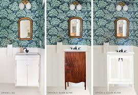 convert pedestal sink to vanity ask the audience powder room vanity and a sneak peek emily