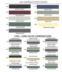 1951 chevrolet body colors
