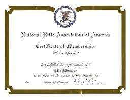 certificate frame national rifle association of america masterpiece medallion