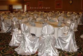 silver chair covers chair covers of lansing doves in flight decorating