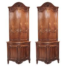 Corner Cabinet With Glass Doors 19th Century Rustic English Corner Hanging Cabinet With Glass Door