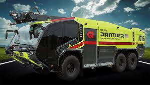 new rosenbauer aircraft rescue and firefighting vehicle is powered