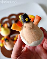 healthy thanksgiving treats turn peeps into too cute turkeys for a fun and festive