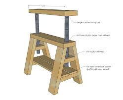 Build Adjustable Height Desk by Ana White Modern Indsutrial Adjustable Sawhorse Desk To Coffee