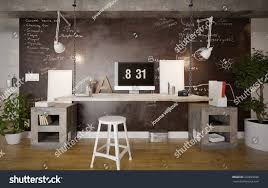 interior of a home interior rustic home office 3 d stock illustration 329829698