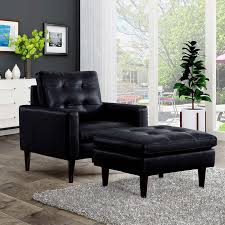 Black Chair With Ottoman Norstad Black Chair With Ottoman