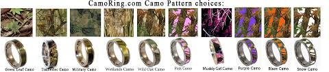 camo wedding ring sets for him and camo wedding rings