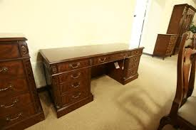 high end mahogany credenza with oak drawers