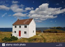 Canada House by Coastline Elliston Newfoundland Canada House Coast Sea Stock