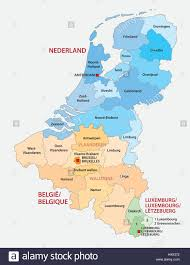 Map Of Luxembourg Administrative Map Of The Three Benelux Countries Netherlands