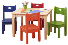 Child Patio Chair by Wooden Table And Chairs For Kids Homesfeed