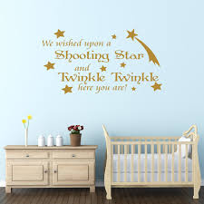 Bedroom Wall Stickers Sayings We Wished Upon A Shooting Star Nursery Wall Sticker Quote